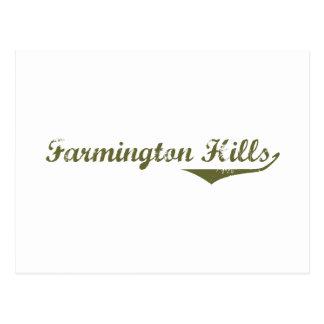 Cartão Postal Camisas da revolução t das colinas de Farmington