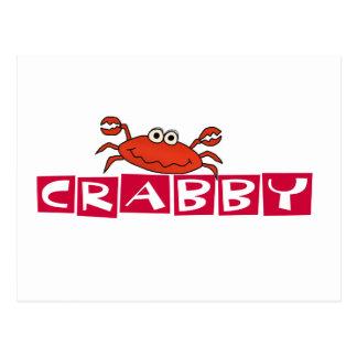 Cartão Postal Camiseta e presentes Crabby do caranguejo