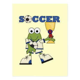 Cartão Postal Camiseta e presentes do futebol do sapo