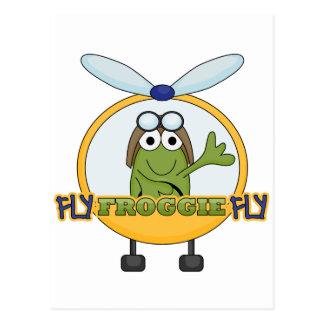 Cartão Postal Camiseta e presentes do helicóptero da mosca de