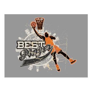 Cartão Postal Camiseta e presentes do jogador do basquetebol o