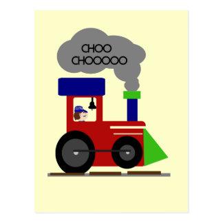 Cartão Postal Camiseta e presentes do trem de Choo Choo