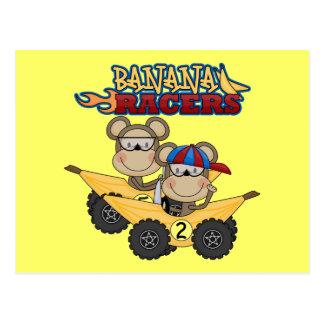 Cartão Postal Camiseta e presentes dos pilotos da banana