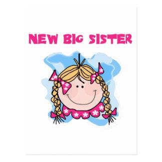 Cartão Postal Camiseta e presentes novos louros da irmã mais