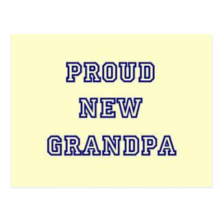 Cartão Postal Camiseta novo orgulhoso do texto da