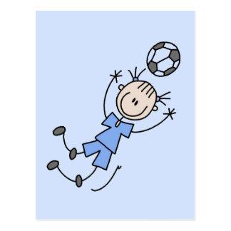 Cartão Postal Camiseta uniforme e presentes do futebol azul da