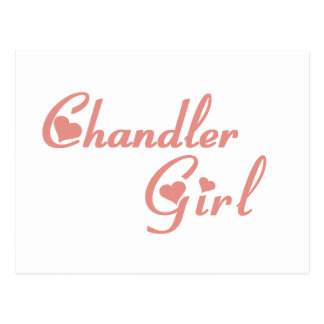 Cartão Postal Camisetas da menina de Chandler