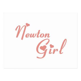 Cartão Postal Camisetas da menina de Newton