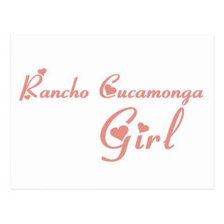 Cartão Postal Camisetas da menina de Rancho Cucamonga