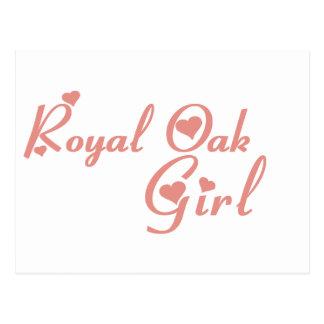 Cartão Postal Camisetas reais da menina do carvalho