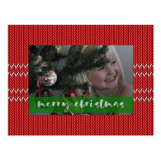 Cartão Postal Camisola do vermelho do Feliz Natal
