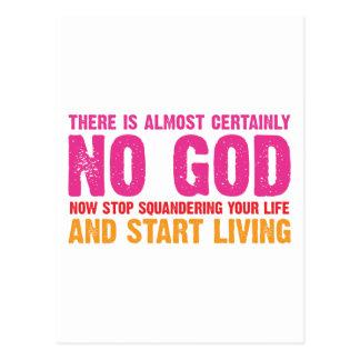 Cartão Postal Campanha ateu: Não há quase certamente nenhum deus