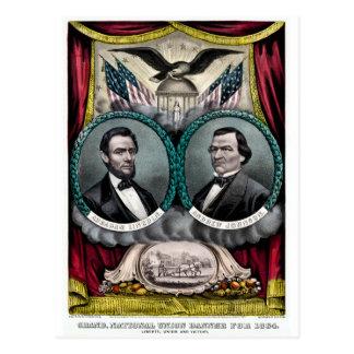 Cartão Postal Campanha presidencial 1864 de Abraham Lincoln