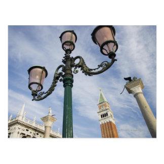 Cartão Postal Campanile na praça San Marco Veneza Italia