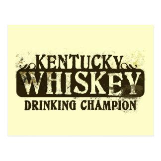 Cartão Postal Campeão do bebendo do uísque de Kentucky