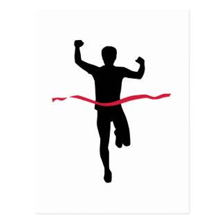 Cartão Postal Campeão Running do vencedor da maratona