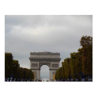 Cartão Postal Campeões Elysees Paris France de Arco do Triunfo