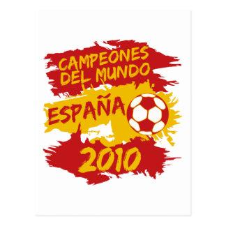 Cartão Postal Campeones del Mundo 2010