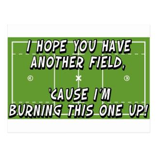 Cartão Postal Campo ardente do Lacrosse