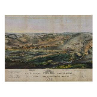 Cartão Postal Campo de batalha de Gettysburg por John Bachelder