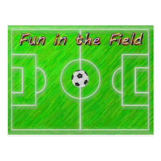 Cartão Postal Campo de futebol
