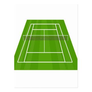 Cartão Postal Campo de ténis