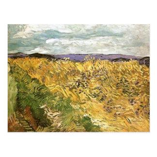 Cartão Postal Campo de trigo com belas artes de Van Gogh dos