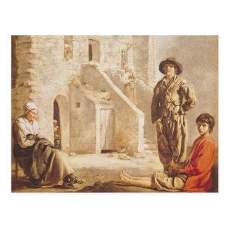 Cartão Postal Camponeses antes de sua casa, c.1641