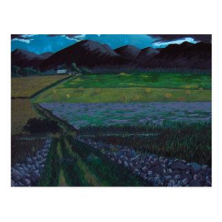 Cartão Postal Campos e fazenda de Wisconsin