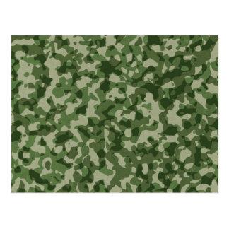 Cartão Postal Camuflagem militar do verde da selva