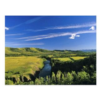 Cartão Postal Canadá, Alberta, o rio de Highwood ao longo do