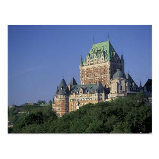 Cartão Postal Canadá, Cidade de Quebec.  Castelo Frontenac.