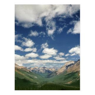 Cartão Postal Canadá, Columbia Britânica, Yoho NP. Nuvens