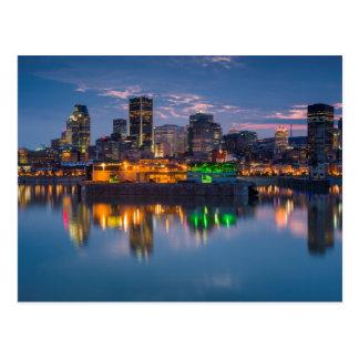 Cartão Postal Canadá, Montreal, skyline e porto velho