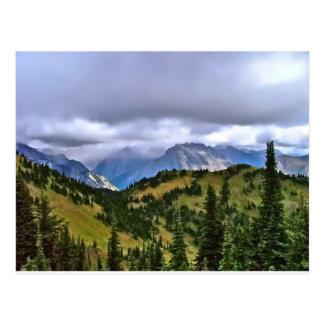 Cartão Postal Canadense Montanhas Rochosas