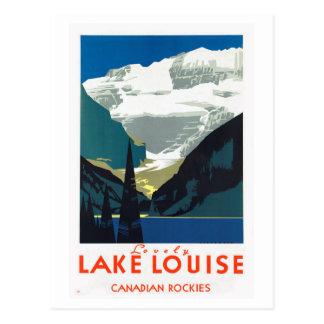 Cartão Postal Canadense Montanhas Rochosas Canadá de Lake Louise