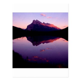 Cartão Postal Canadense Montanhas Rochosas do parque de Rundle