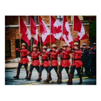 Cartão Postal Canadenses na parada pelo Mac de Shawna