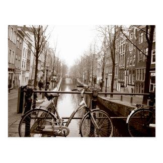 Cartão Postal Canal de Amsterdão