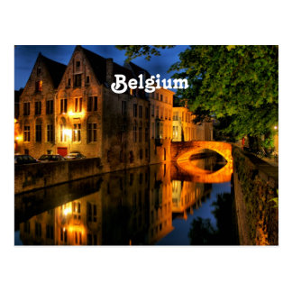 Cartão Postal Canal em Bélgica