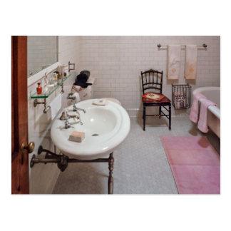 Cartão Postal Canalizador - o banheiro