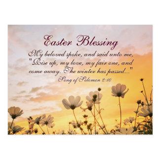 Cartão Postal Canção da bênção da páscoa do verso da bíblia do