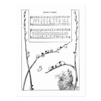 Cartão Postal Canção dos gatinhos do salgueiro de bichano