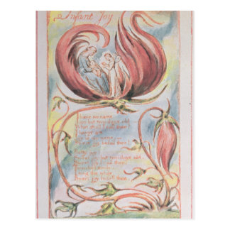 Cartão Postal Canções da inocência; Alegria infantil, 1789