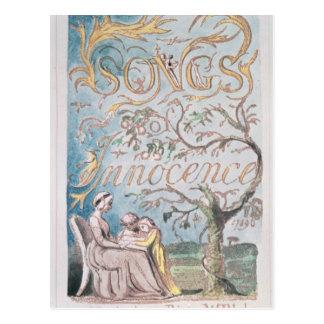 Cartão Postal Canções da inocência; Frontispício, 1789