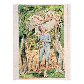 """Cartão Postal Canções da inocência; """"o gaiteiro"""", 1789"""