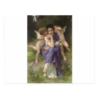 Cartão Postal Canções do primavera por William-Adolphe