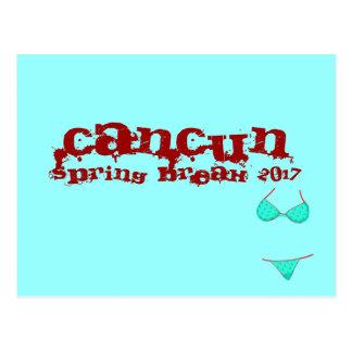 Cartão Postal Cancun México | 2017 azuis da cerceta das férias