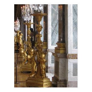 Cartão Postal Candelabras dourado, castelo de Versalhes