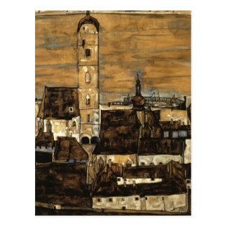 Cartão Postal Caneca de cerveja de Egon Schiele- no Danúbio, de